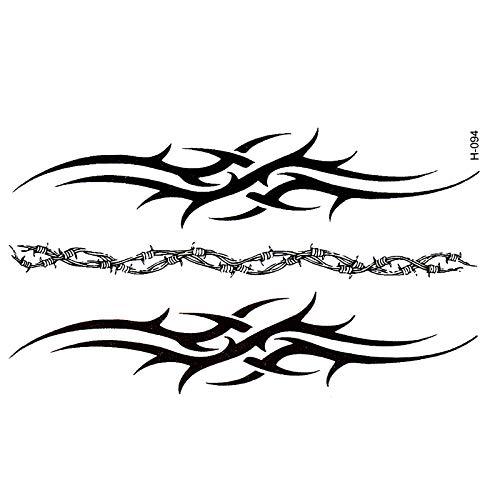 Neue Tätowierung schwarz Armband wasserdichte Tätowierungen temporäre Männer decken Simulation Harajuku Totem Großhandel Klebetätowierung