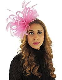 926fa8ba7861a Hats By Cressida Ladies Wedding Races Ascot Derby Fascinator Headband Hot  Pink