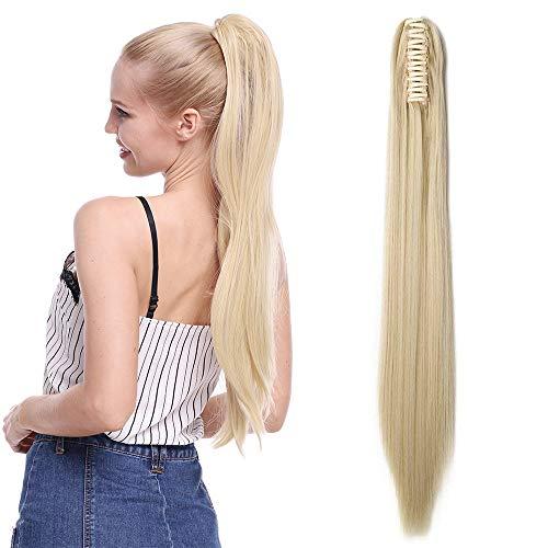aarteil Ponytail Extensions Haarverlängerung Clip in Synthetik Haare für Zopf Haarteil Hair Extensions Glatt 21