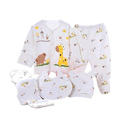 Per 5 piezas Conjuntos de ropa para bebé Canastilla de algodón Ropa interior para Niños Niñas Regalo para Recién Nacido