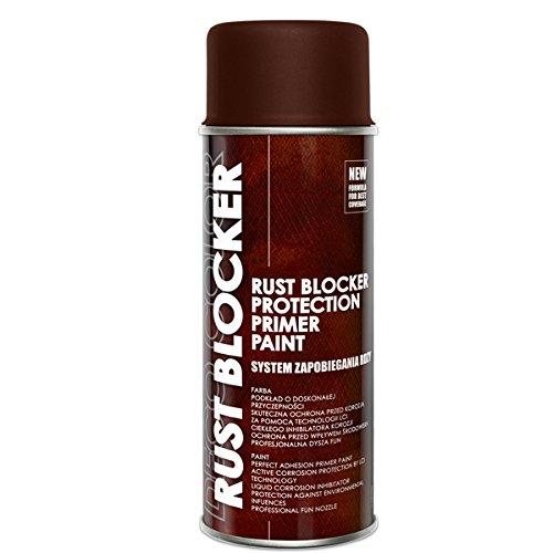 Preisvergleich Produktbild 1 Stück 400 ml Rust Blocker 4in1 Metallschutzlack Rost Stop Lack braun matt RAL 8017 18700