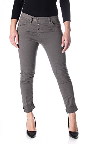 PLEASE Basic Baggy Jeans für Damen M Dunkelgrau
