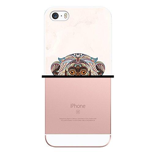 iPhone SE iPhone 5 5S Hülle, WoowCase Handyhülle Silikon für [ iPhone SE iPhone 5 5S ] Ethnischer Löwe Handytasche Handy Cover Case Schutzhülle Flexible TPU - Transparent Housse Gel iPhone SE iPhone 5 5S Transparent D0232