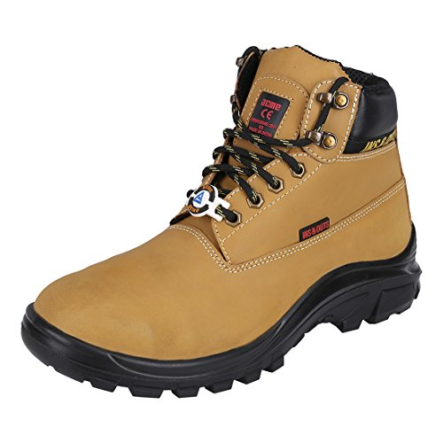 3. ACME Men's Camel Cruiser Leather Safety Shoes