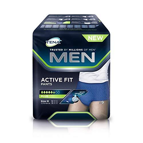 Tena - Männer Active Fit Größe M Paket Von 9 Hosen - Men Active Fit Taille M Le Paquet De 9 Pants - Preis Pro Einheit - Schnelle Lieferung