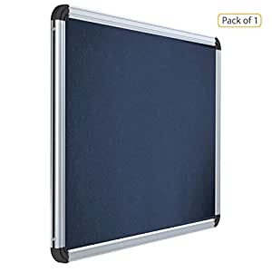 Pragati Systems Prima Pin-Up Board PPUB6090, Heavy-Duty Aluminium Frame, 2X3 Feet, Blue (Pack Of 1)