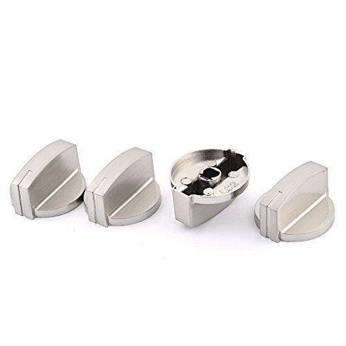 Preisvergleich Produktbild 4 Stück Haushalts Metall Gasherd Herd Wärme Brandschutz Schalterknopf 42mm