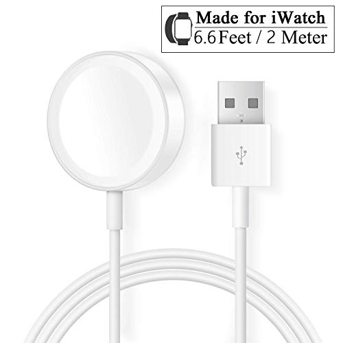 Cargador Apple Watch Reloj 2M/6.6FT Cable Carga magnético