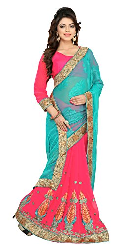 Chigy Whigy Pink Fancy Jacquard Casual Wear Sarees