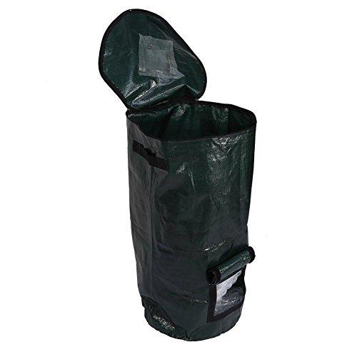 globalqi sacchetti per rifiuti da giardino borsa di compost borsa di fermentazione trattamento dei rifiuti di cucina fatto casa borsa di fertilizzante organico, 45 * 80cm