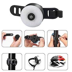 WASAGA Luz Trasera de Bicicleta, LED USB Recargable, Impermeable, Advertencia, 5 Modos, luz Trasera (Gris)