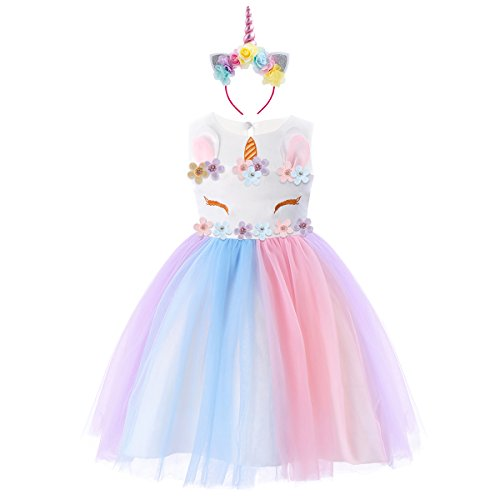Costumes & Accessories New Kids Girls Adorable Adjustable Shoulder Straps Tutu Dress With Hair Hoop Outfit Set For Easter Cosplay Party Costume Sz 2-12 Kids Costumes & Accessories