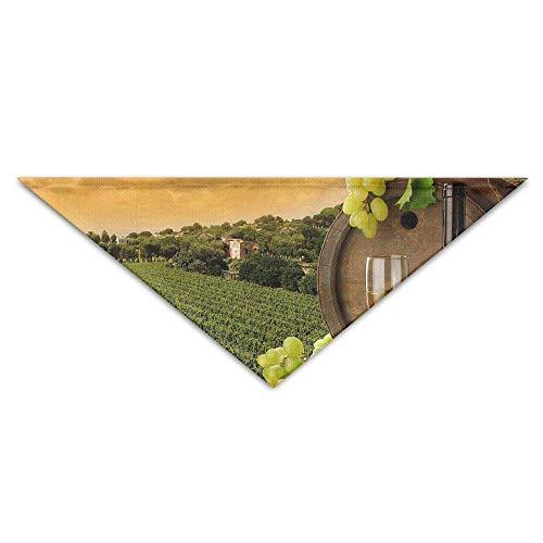 Rghkjlp Haustier Dreieck Bandana Feld Trauben Glas Wein waschbar Hund Welpen Schal