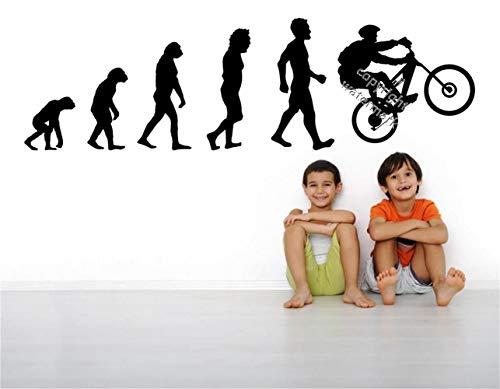 adesivo muro adesivo murale bambini I maniaci della bici sospensione completa Evolution devono avere una decalcomania sportiva per soggiorno per la