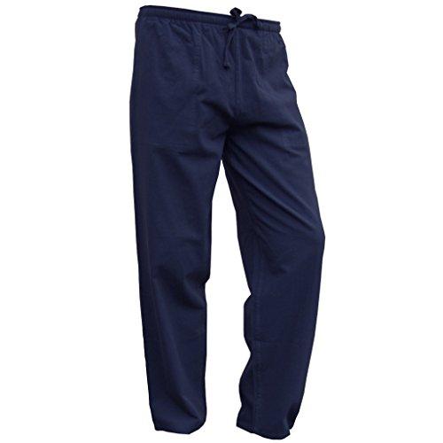 PANASIAM Sommer Hosen und Hemden Aus wohlig Weicher, 100% Reiner Naturbaumwolle Hose in blau