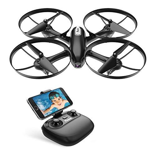 Potensic Drohne WiFi FPV RC Quadrocopter mit 720P HD Kamera, Live Übertragung, Höhe-Halten, Eine Taste Rückkehr und Geschwindigkeitsanpassung