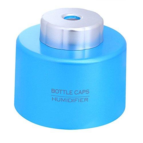 Magideal Portable Car USB Water Bottle Caps Humidifier Air Diffuser Mist Maker-Blue