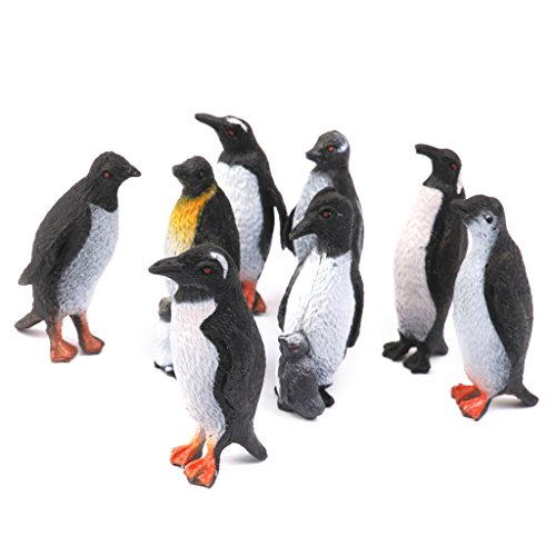 model-plastic-animal-penguin-figure-toy-set-of-8pcs-black-white