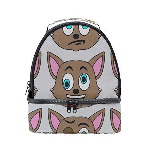 Lunchbox Erwachsene Männer Wütend Weinen Katze Gesicht Schule Schulter Lunchpaket Doppel Lunchbox Isolierte Kühler Für Frauen Student Outdoor Boy Lunchbags
