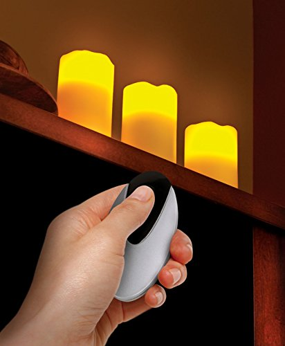 3 LED de vela sin llama velas de cera con vela de cera con luz