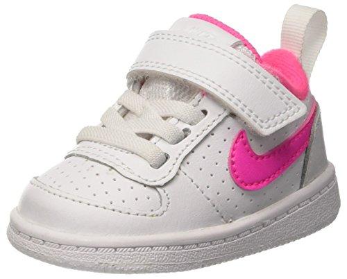 Nike Mädchen Court Borough Low (TDV) Sneakers, Elfenbein (White/Pink Blast), 23.5 EU Nike-schuh-baby-mädchen