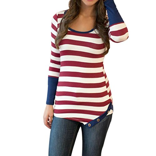 women-fashion-stripes-stitching-long-sleeved-shirt-tops-blouse-anglewolf-l-red