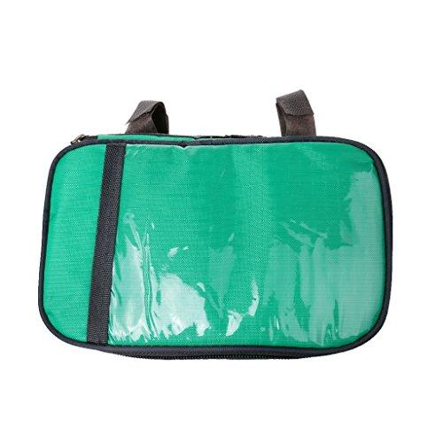 Gazechimp Praktische und Multifunktionelle Fahrradtasche, Radsport Handytasche auf Lenker mit Touch-Screen, oder als schöne Umhängetasche Grün - Quadratisch