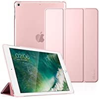 Fintie iPad 9.7 2018/2017 Case - Lightweight Slim Shell Cover with Translucent Frosted Back Protector Supports Auto Wake/Sleep for Apple iPad 6th / 5th Gen 9.7 Inch, Rose Gold