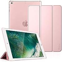 Fintie Coque pour iPad 9.7 2018/2017 - SlimShell Cover Etui Housse avec Support Ultra-Mince et léger avec Semi-Transparent Protecteur et la Fonction Sommeil/Réveil Automatique, Or Rose