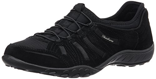 Skechers Active Breathe-Easy Big Bucks, Baskets Basses Femme Noir (blk)