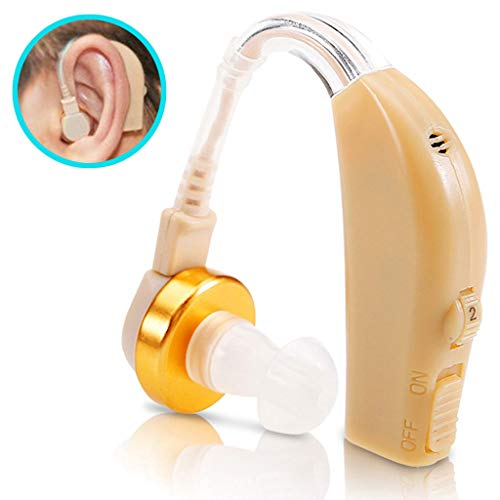 Hörhilfe: Akku-HdO-Hörverstärker, zwei Klangkulissen-Modi, 33 dB, 2er-Set