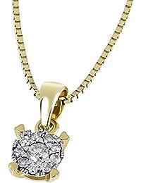 Goldmaid Damen-Halskette Glamour 585 Gelbgold 10 Brillanten 0,10 ct.