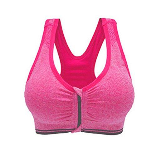 Demarkt Femme Sexy Soutiens Gorge de Sport Yoga Soutiens Push up Bra Lingerie Brassière Vest Rose