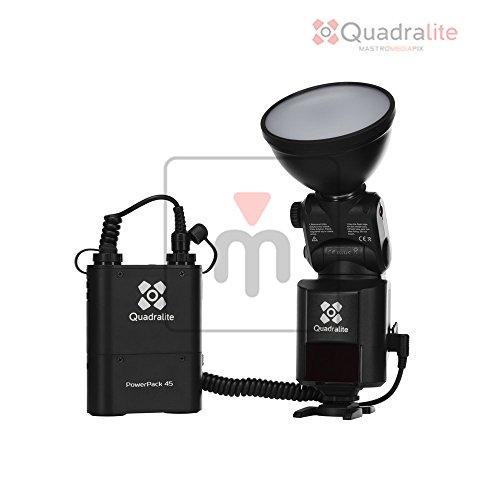 Quadralite Reporter 360 TTL für Canon Systemblitz mit Studioleistung und TTL Steuerung (360Ws, Akku mit 4500 mAh, flexible Blitzeinstellungen)