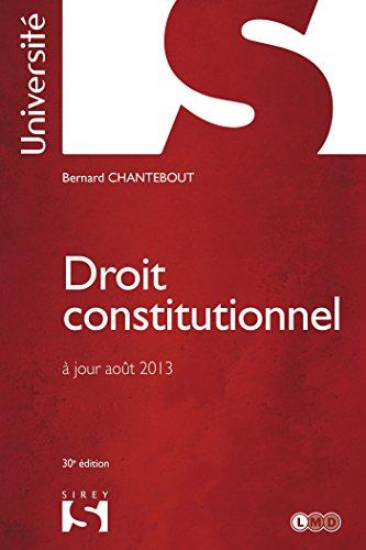 Droit constitutionnel - 30e éd.