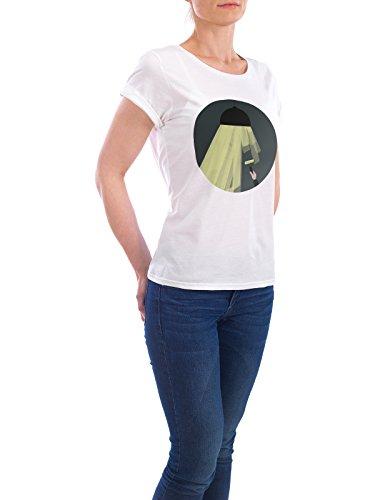"""Design T-Shirt Frauen Earth Positive """"Light Paint"""" - stylisches Shirt Kindermotive Comic Architektur Menschen von Doozal Collective Weiß"""