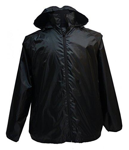 Leichte Regenjacke in großen Größen bis 12XL, schwarz, Größe:7XL
