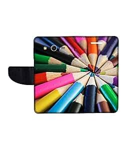 KolorEdge Printed Flip Cover For Samsung Galaxy Core ll Multicolor -(45KeMLogo12327SamCore2)