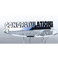 """Congratulations"" Mirrored Acrylic Cup Cake Stand Topper"