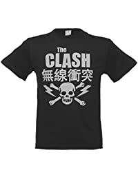 Mens Charcoal The Clash Bolt T Shirt from Amplified