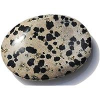 Dalmatiner-Edelstein-Dimmelstein Jaspis 3 cm x 4 cm in Organza-Beutel preisvergleich bei billige-tabletten.eu