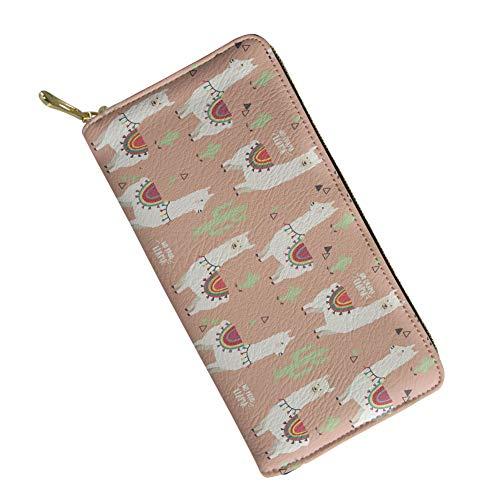Sannovo Damen Geldbörse aus weichem Leder, Blumenmuster, Weiß/Schwarz - gelb - Einheitsgröße (Falten Iphone 5 Fall)