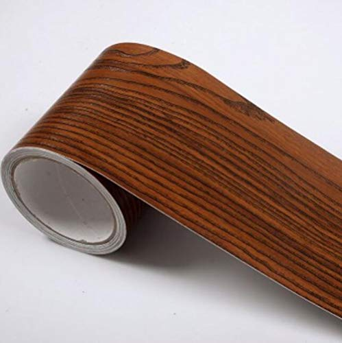 BIZHI PVC Tapete Taille Linie Bad Küche Fliesen Wasserdicht Selbstklebende Wandaufkleber Grenze Holz Aufkleber 10 mt * 5 mt, 2 (2-wallpaper-grenze)