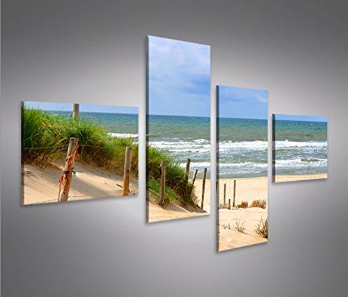 Bild Bilder auf Leinwand Weg zum Meer V4 Strand Dünen Nordsee Ostsee 4L XXL Poster Leinwandbild Wandbild Dekoartikel Wohnzimmer Marke islandburner (Bild Weg)