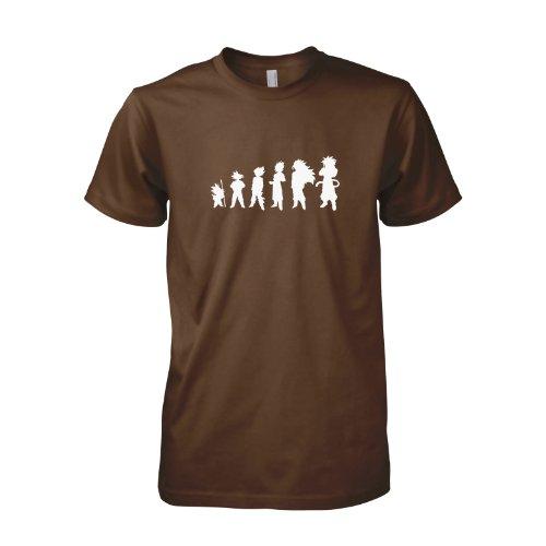 TEXLAB - Goku Evolution - Herren T-Shirt Braun