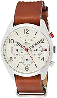 Tommy Hilfiger Corbin Men's Beige Dial Leather Band Watch - 179