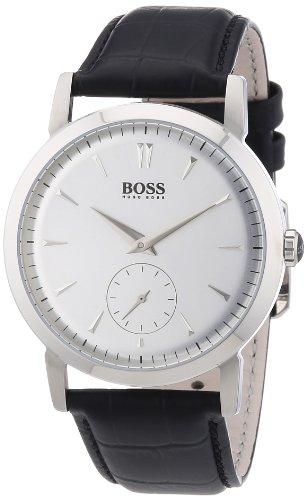 Hugo Boss 1512774 - Reloj analógico de cuarzo para hombre con correa de piel, color negro