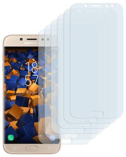 mumbi Schutzfolie kompatibel mit Samsung Galaxy J7 2017 Folie klar, Displayschutzfolie (6X)