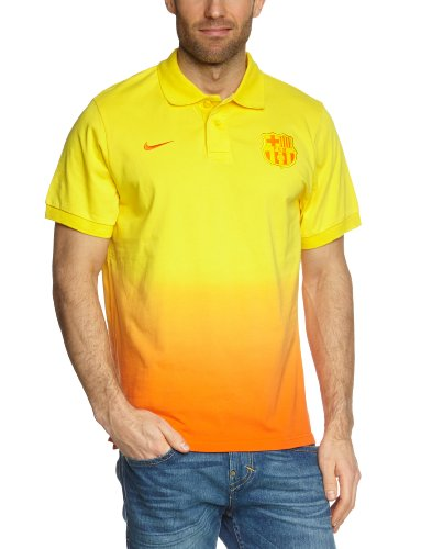 Nike Herren Polo-Shirt Fc Barcelona Authentic Grand Slam, Tour Yellow/Safety orange/Safety orange, S, 478156-719