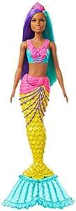 Barbie Dreamtopia Muñeca Sirena, pelo turquesa y morado  (Mattel GJK10)